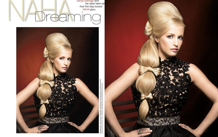 Hollywood Hair Photo Session Work - Published in HOT Hair's How Magazine